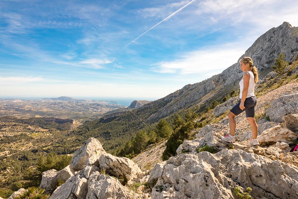 Utsikt over Halóndalen fra Sierra Bernias østside