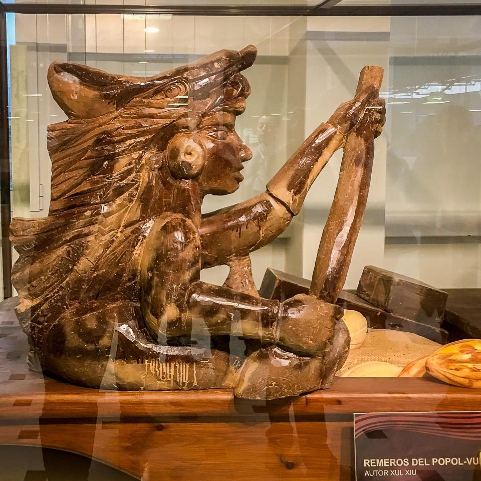 Sjokoladeskulptur i sjokolademuseet til Valor