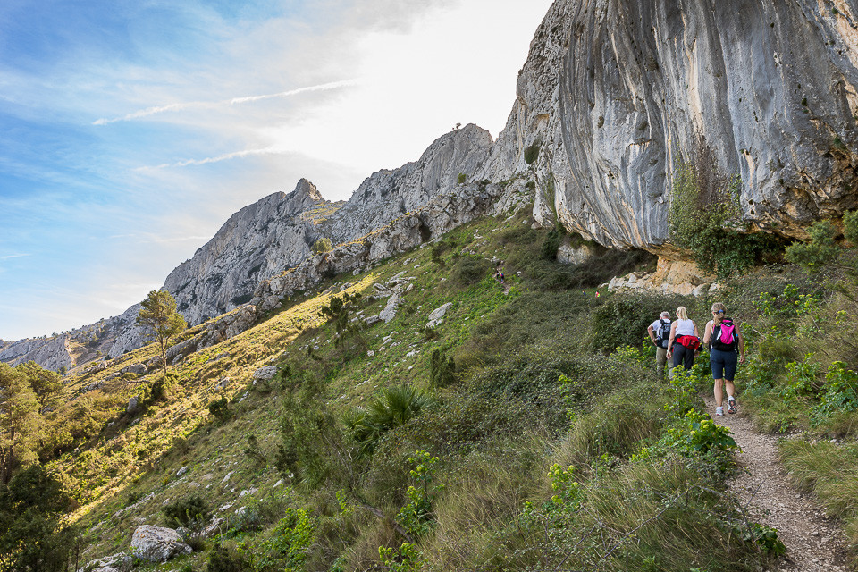 Østsiden av Sierra Bernia