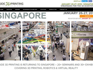 Singapore Inside 3D Printing Conference & Expo Visit