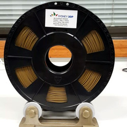 3D printed filament rolling spool holder. All components printed