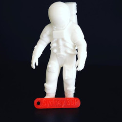 Astronaut and hang tag