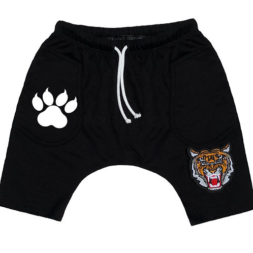 Tiger Patch/ Paw Print Short Baggies
