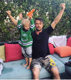 Josh Duhamel and son Axl Jack