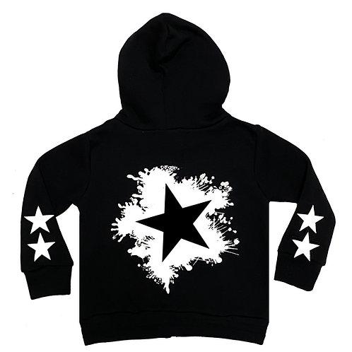 Star Splatter Zip Hoodie
