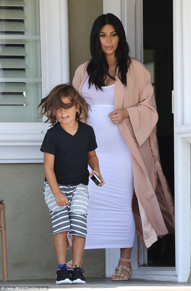 Kim Kardashian & Mason Disick