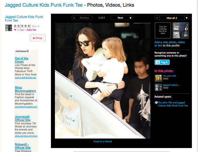 Angelina Jolie, Kids/ Jagged Culture