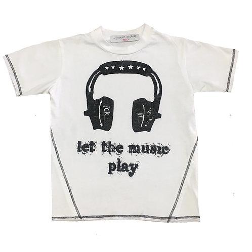Let The Music Play-Headphones Tee