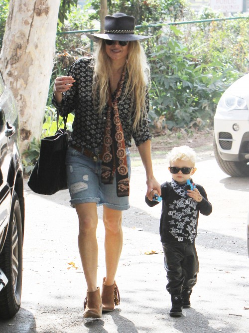 Fergie with her son Axl Duhamel