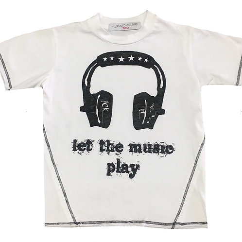 Let The Music Play-Headphones T-Shirt