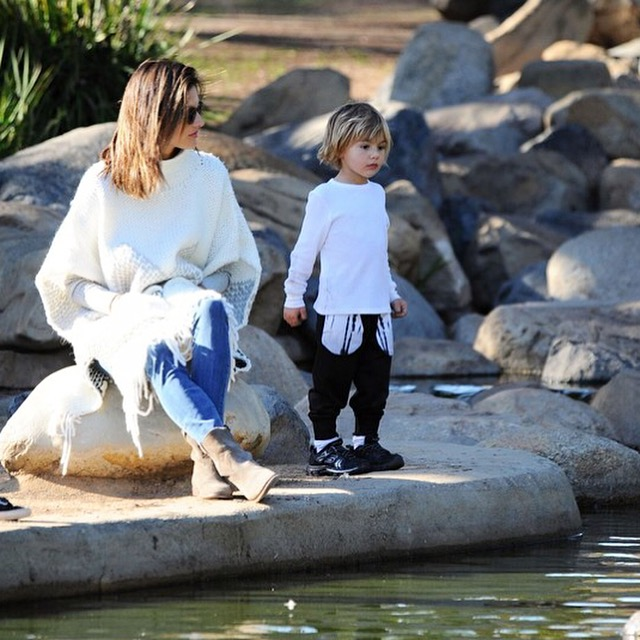 Alessandra Ambrosio and son Noah
