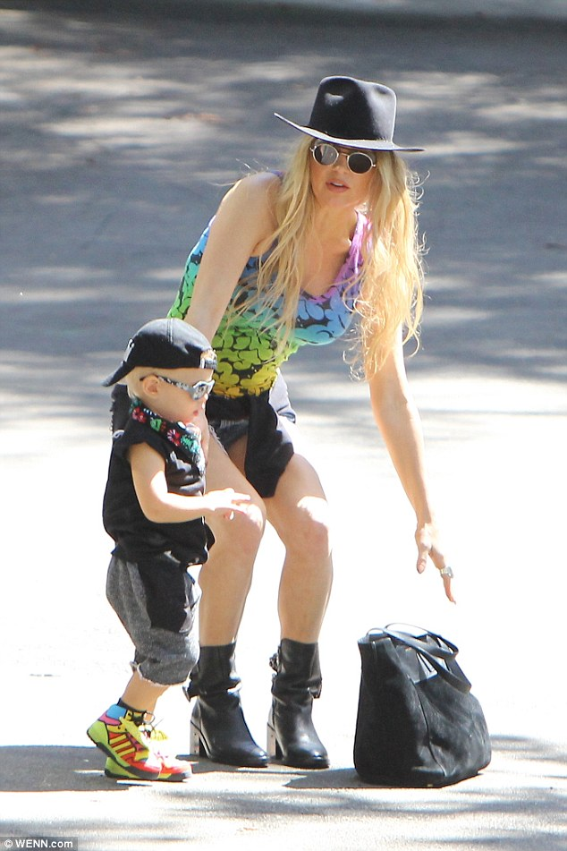 Axl Duhamel and Mom, Fergie