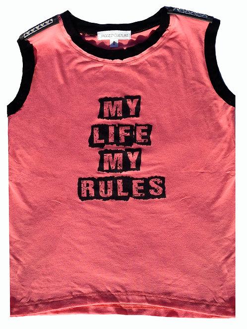 My Life My Rules Tank w/Studs