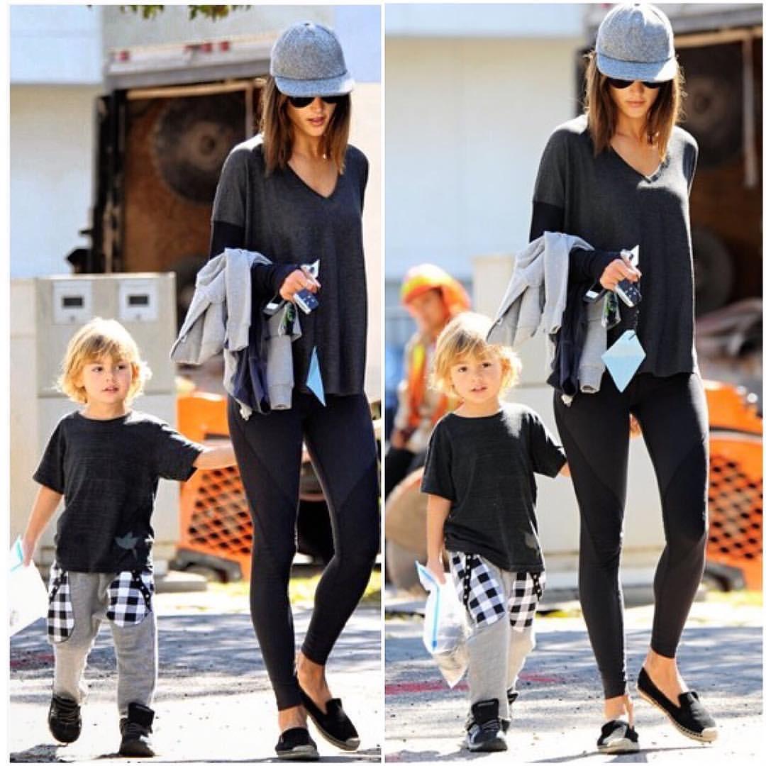 Alessandra Ambrosio & Son Noah