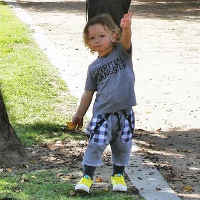 Gavin Rossdale & son Apollo Rossdale