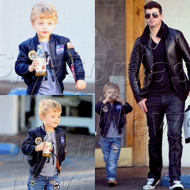 Julian Thicke with dad Robin Thicke