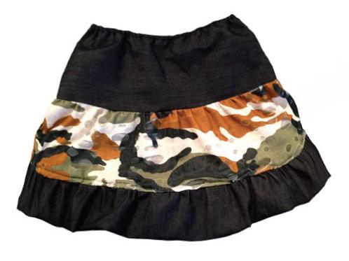 Camo/Denim Skirt