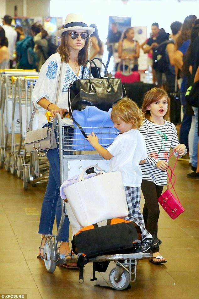 Alessandra Ambrosio & Kids