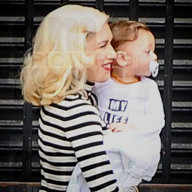 Gwen Stefani and son Apollo Rossdale