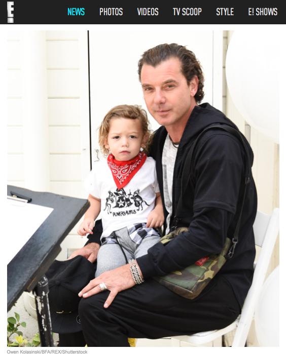 Gavin Rossdale &son Apollo Rossdale