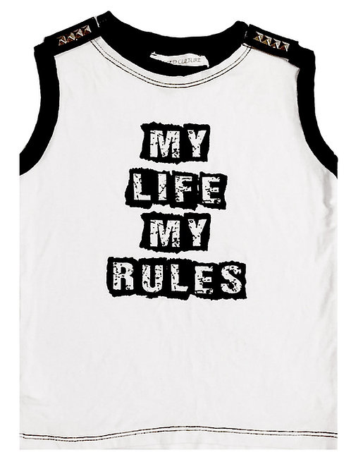 My Life My Rules  Muscle Tank