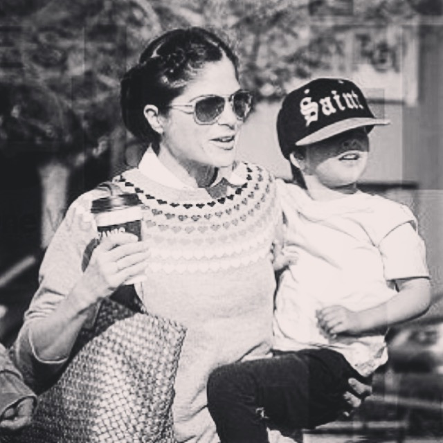 Selma Blair and son Arthur Saint