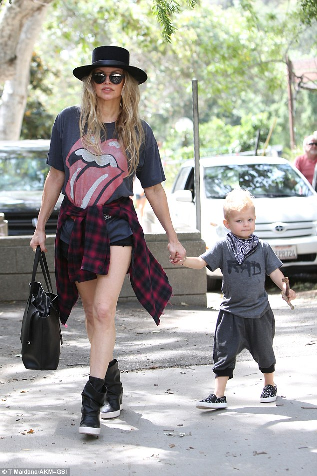 Fergie and Son Axl Jack Duhamel