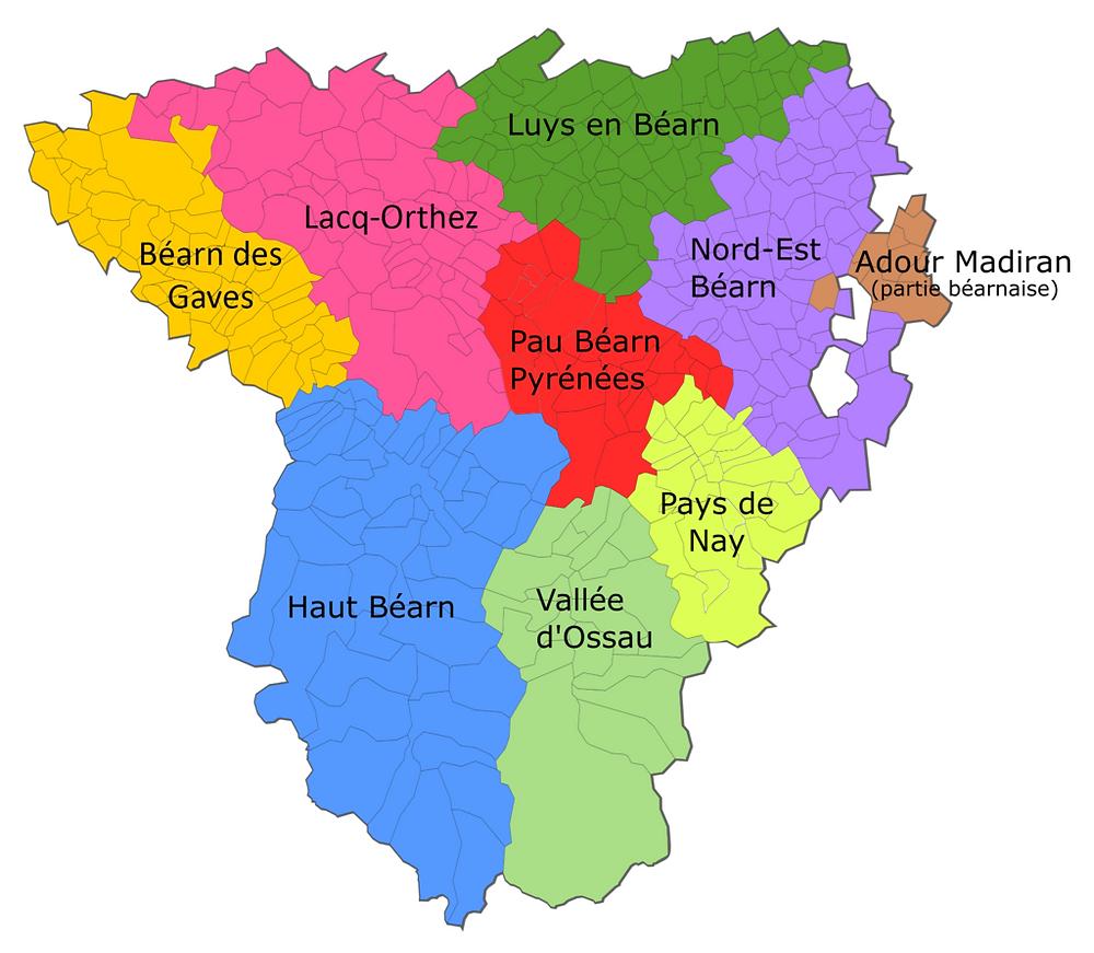 Mapa intercomunalitats de Bearn carte des intercommunalités du Béarn