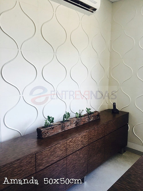 Painel 3d Fibra de Bambu Amanda 50x50