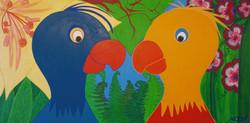 Papagaaien in jungle