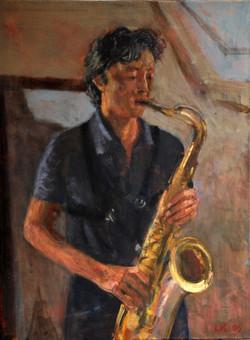 Maarten met sax