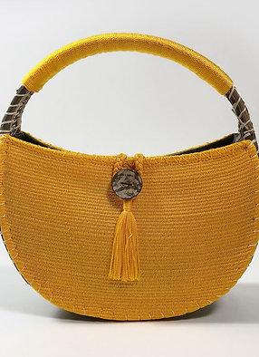 uh tok (Moon Spark) Basket Purse (toucan yellow)