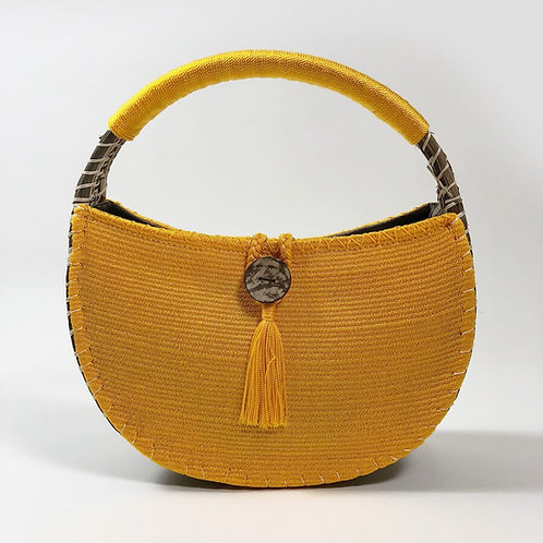 uh tok (Moon Spark) Basket Purse (toucan yellow)