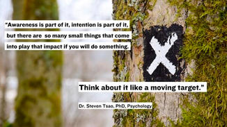 """We talked to expert Dr. Steven Tsao, and he outlines it best. """"Awareness is part of it, intention is part of it, but there are so many small things that come into play that impact if you will do something. Think about it like a moving target."""""""