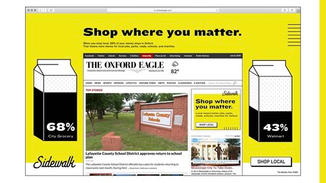 The campaign will run out of home ome, on locally targeted sponsored posts, as well as in local publications.