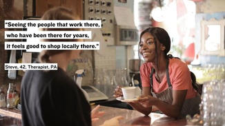 People expressed to us that it feels good to shop local.