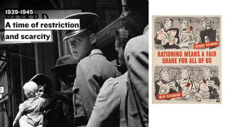 World War II introduced a time of restriction and scarcity  and the government implemented rationing.