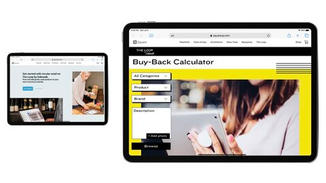 Shops become certified by using the Buy Back calculator on the Square website. The calculator allows them to implement a resale program– pricing items for exchange and resale seamlessly and without expertise.