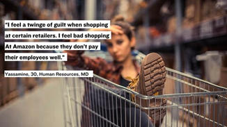 People worry about local businesses in a personal way. And they feel guilt when they shop at large chains or big box stores.