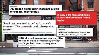 Without a safety net, local businesses were left to wait for support and aid from organizations like the Small Business Administration.