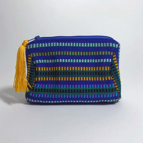 kuhkay cosmetic bag (blue multi)