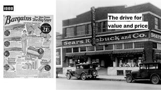 Outside of the cities, small businesses were still the heart and soul of communities. But people in rural areas were beginning to gain access to items beyond their homes through mail-order catalogs.