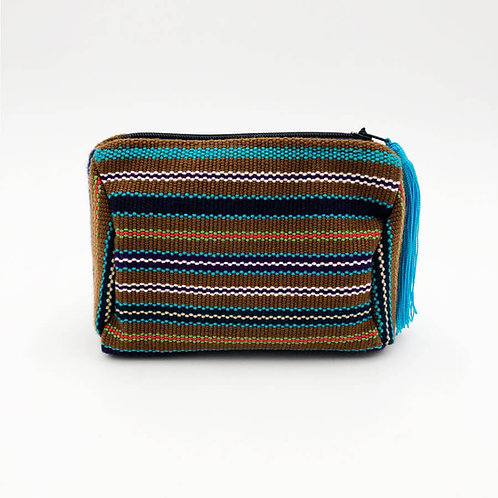 kuhkay cosmetic bag (brown multi)