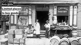 In the early days of brick and mortar retail in the United States, consumers had limited choice in retailers. There was no big vs. small, chain vs. independent, big box vs. specialized. There were just a handful of stores that were indispensable to towns' residents.