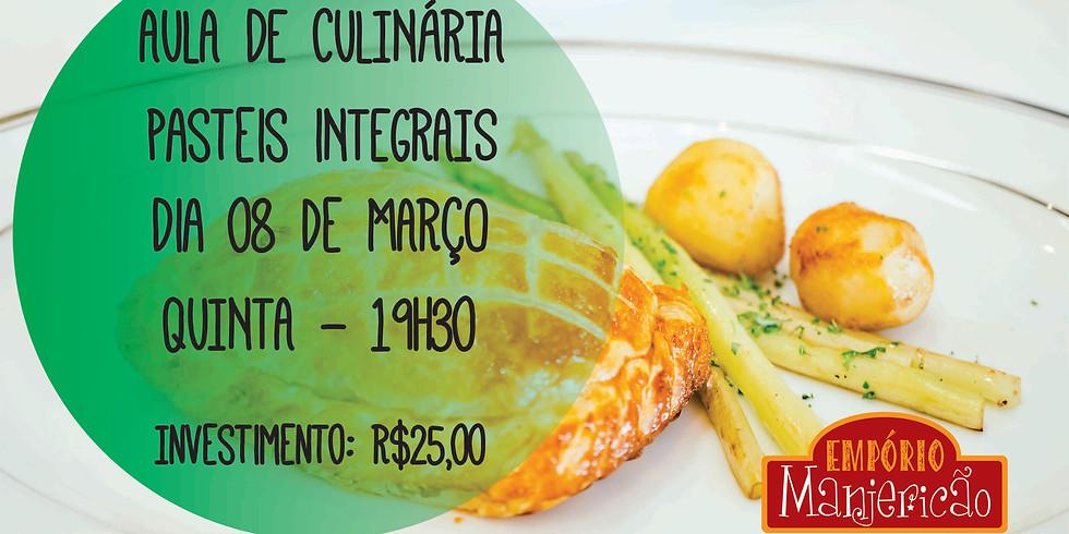 Aula Culinária Pasteis Integrais