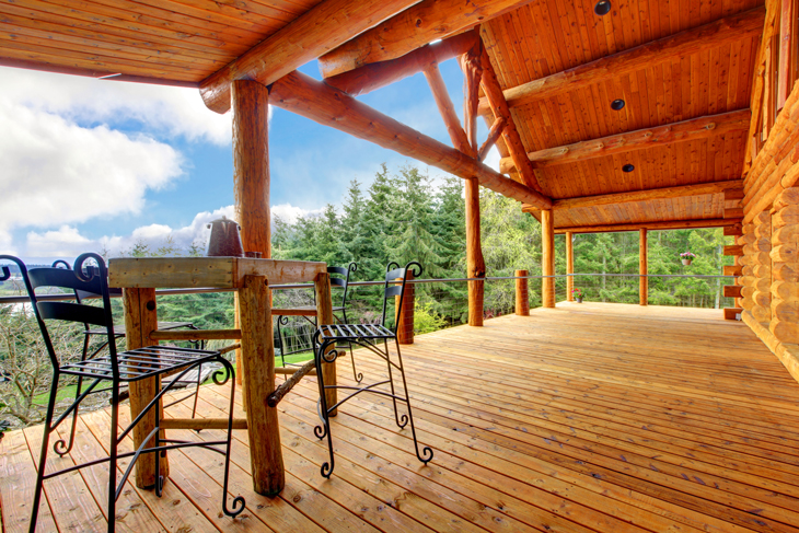 Cedar deck restoration and protection