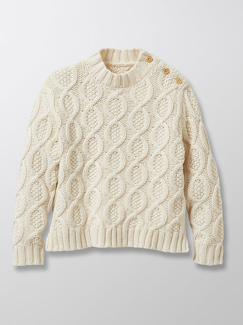 CYRILLUS Girl's Cable Knit Sweater