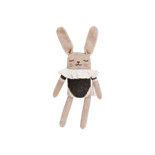 MAIN SAUVAGE Bunny Knit Toy - Black