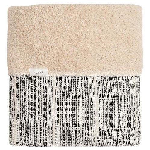KOEKA Cot Blanket Teddy - Black