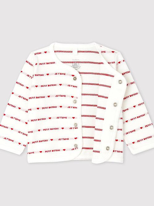 PETIT BATEAU Woven Cotton Cardigan